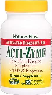 NaturesPlus ActiZyme - 90 Vegetarian Capsules - Gut Health Supplement, Contains Digestive Enzymes, Probiotics, Aminogen, Bioperine - Gluten-Free - 45 Servings