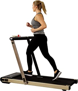 Sunny Health & Fitness ASUNA Premium Slim Folding Treadmill Running Machine with Speakers for Home Gyms
