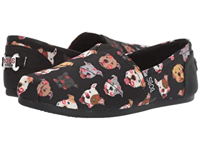 BOBS from SKECHERS Bobs Plush Kiss-A-Bulls (Black Multi) Women