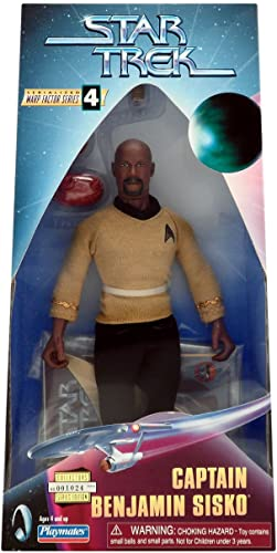 moda CAPTAIN BENJAMIN SISKO Star Trek Trek Trek  Deep Space Nine  9 INCH  Warp Factor Series 4 Fully Articulated Action Figure by Star Trek  Precio por piso