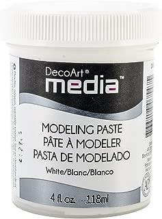 Deco Art Media Modeling Paste, 4-Ounce, White