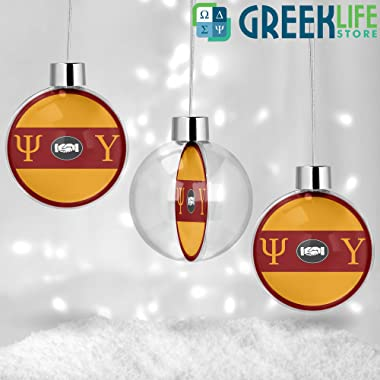 greeklife.store Psi Upsilon Round Ball Ornament Christmas Decor