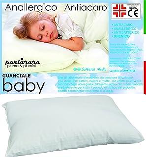 PERLARARA - Almohada para Niños 2 Años, Transpirable y Antialérgica - para Bebés de 1 - 2 - 3 año (40 x 60 cm)