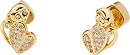 Mom Knows Best Pave Monkey Studs Earrings