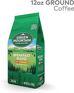 Green Mountain Coffee Breakfast Blend Decaf, Ground Coffee, Decaffeinated, Light Roast, Bagged 12oz.