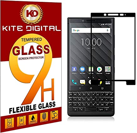 Kite Digital BlackBerry KEY2 Black 5D Premium Tempered Glass Screen Protector Slim 9H Hard 2.5D