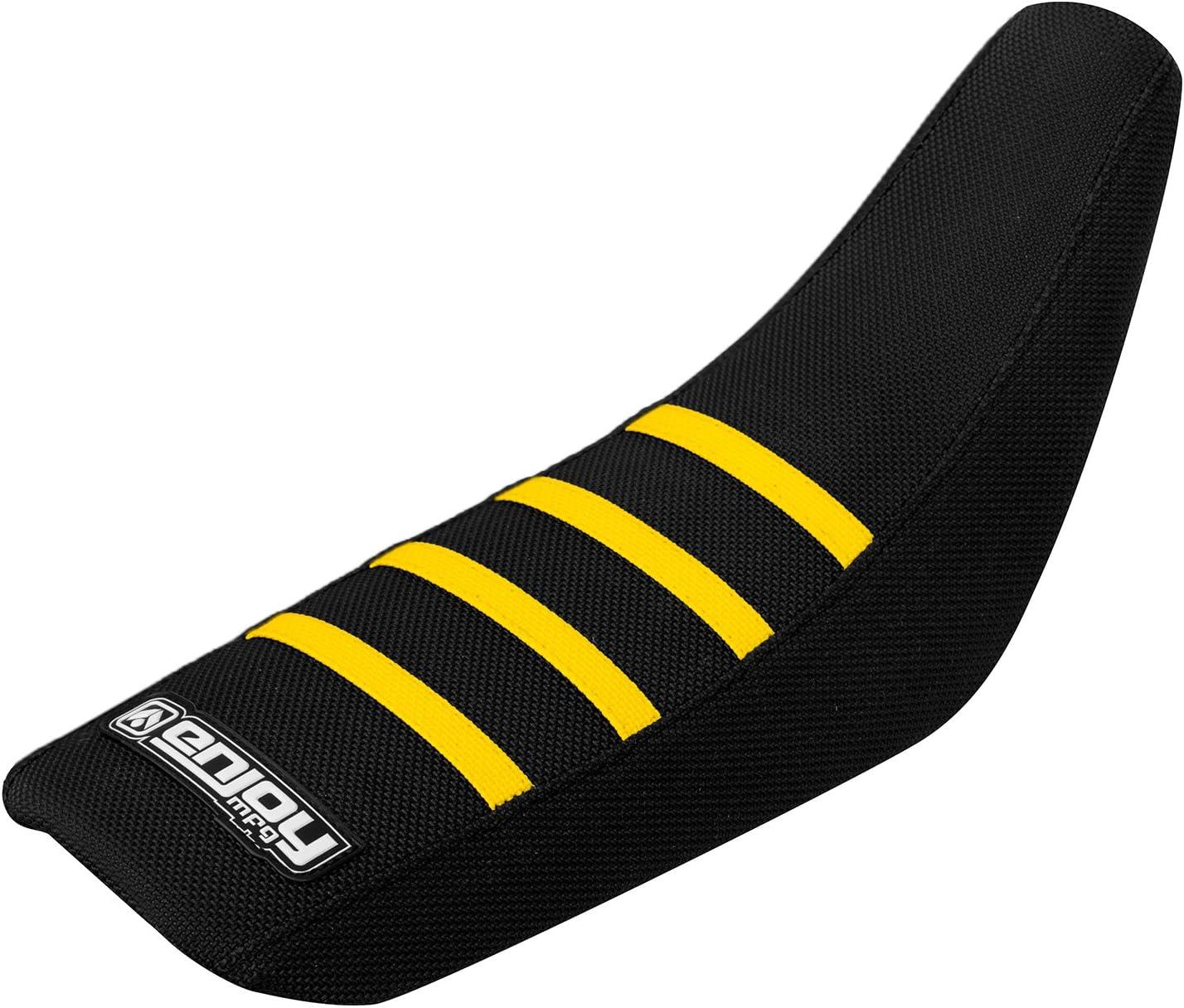 All Black Enjoy MFG Ribbed Seat Cover for Suzuki JR 50 Black Ribs