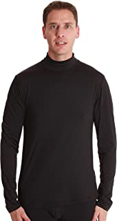 Men's Long Sleeve Thermal Shirt Compression Base Layer Mock Neck Top
