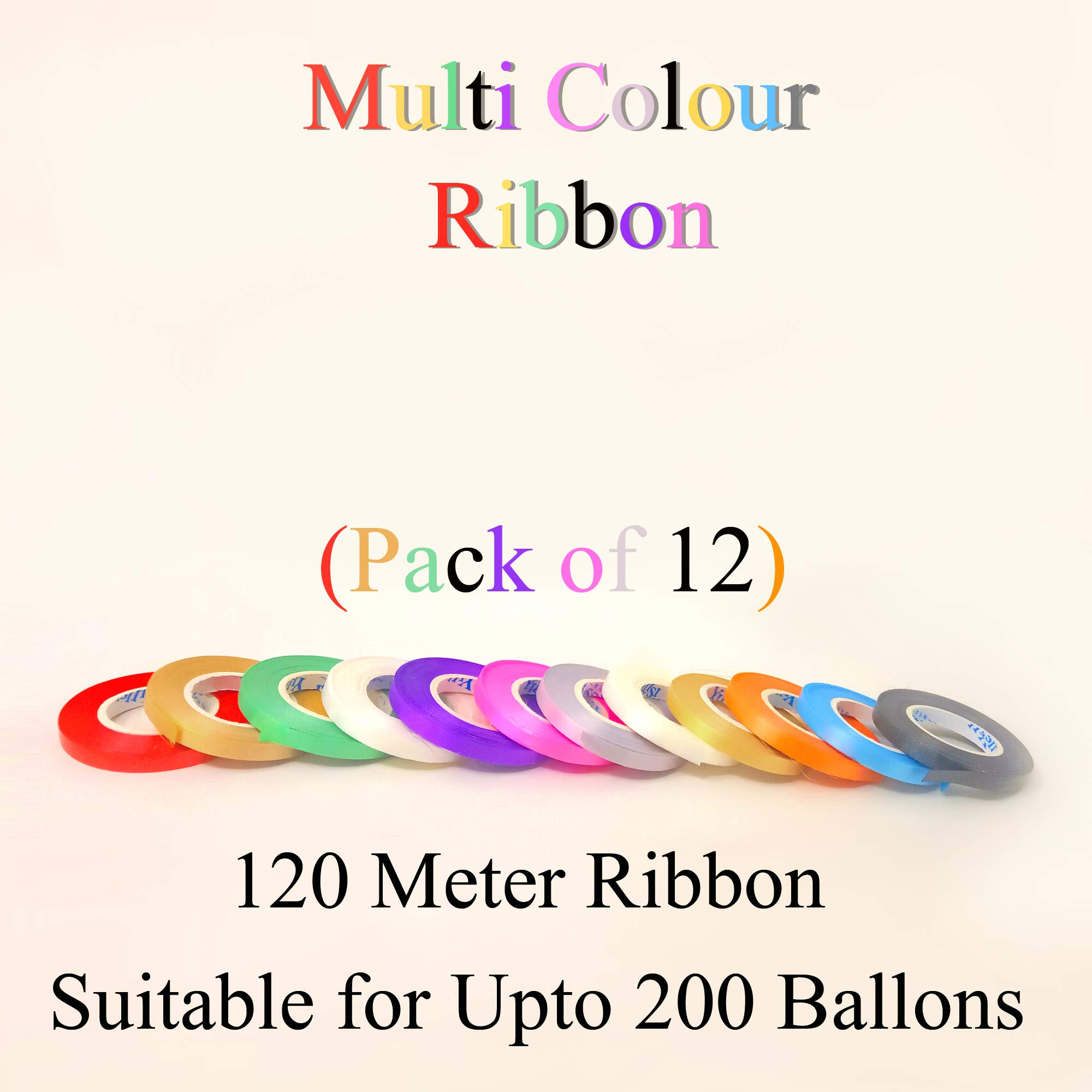 BALLOON CURLING DECORATING RIBBON ALL COLOURS-FREE P/&P RIBBONS NEW 50 METRES