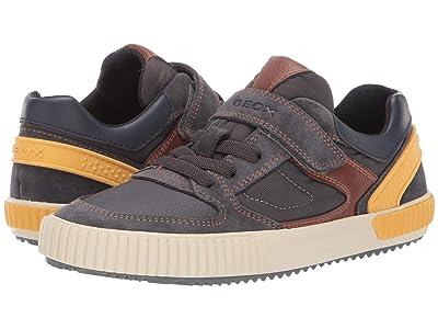 Geox Kids Jr Alonisso 40 (Big Kid) (Grey/Yellow) Boys Shoes