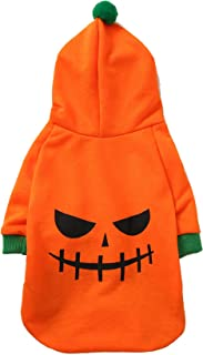 Impoosy Pet Halloween Ghost Shirt Dog Cat Funny Puppy Pumpkin Costume Cute Skull Hoodies Clothes for Dogs Cats Outfit