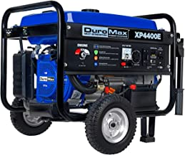 DuroMax XP4400E 4,400 Watt 7.0 HP OHV 4-Cycle Gas Powered Portable Generator With Wheel Kit And Electric Start