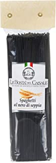 Premium Black Squid Ink Artisanal Spaghetti Pasta - 500g (1.1 lb) | Imported From Italy, Three Ingredients - The Finest Durum Semolina Wheat, Squid Ink, Water, by Le Bonta' Del Casale