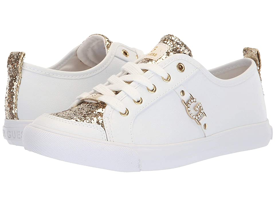 G by GUESS Banx3 (White/Light Gold) Women