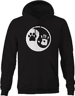 Paw Hand Print Yin Yang Dog Animal Rescue Adopted Pet Lover Sweatshirt