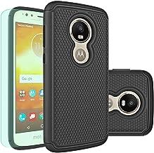 Moto E5 Play Case,Moto E5 Cruise Case with HD Screen Protector Huness Durable Armor and Resilient Shock Absorption Case Cover for Motorola Moto E5 Play,Moto E5 Cruise Phone (Black)