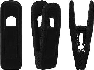 Corodo Velvet Hangers Clips 20 Pack, Black Pants Hangers Velvet Clips, Strong Finger Clips Perfect for Thin Velvet Hangers