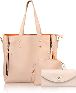 WOMEN MARKS Women's Handbag (Cream) Combo of 3