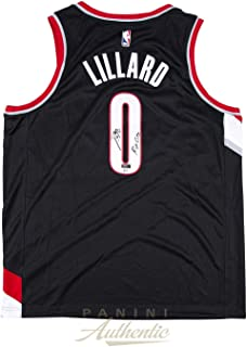 bccd04c40fe7 Damian Lillard Autographed Black Nike Portland Trailblazers Swingman Jersey  with