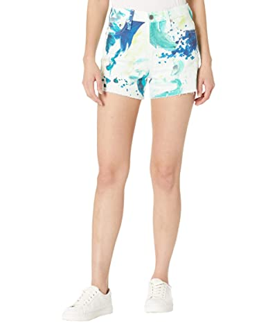 AG Adriano Goldschmied Alexxis High-Rise Vintage Shorts in Garden Paint Multicolor