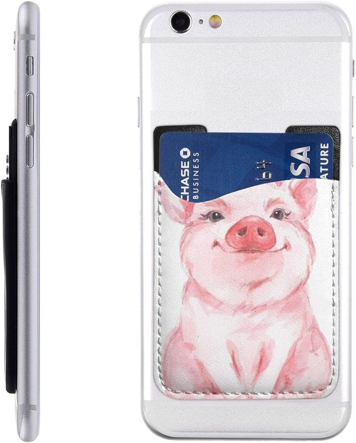 Lovely Pink Pig Phone Card Cell Holder OFFicial Stick On Daily bargain sale Walle