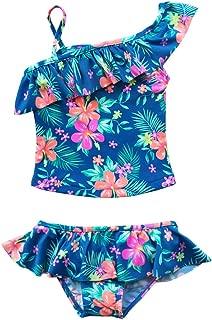 Girls Toddlers Two Piece Floral Tankini Swimsuit Beach Swimwear
