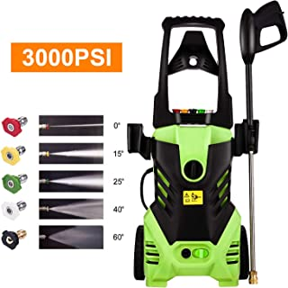Homdox Electric High Pressure Washer 3000PSI Power Washer 1800W 1.8GPM Portable Cleaner Machine with 5 Interchangeable Nozzles