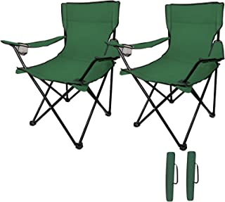 Cambyso Camping Chairs 2Packs Outdoor Chairs Foldable Portable Lawn Chair Ultra-Light Easy to Carry Fishing Chairs with Be...
