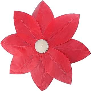 Lumabase 56406 6 Count Floating Lotus Paper Lanterns, Red