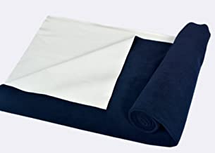 Trance Home Linen Baby Dry Sheets/100% Waterproof/Soft/Mattress Protector/Breathable/Underpad (Navy Blue, Large)