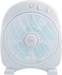 UNIVERSALBLUE | Ventilador Suelo Blanco | 50 W | Temporizador | 3 Velocidades | Modo oscilante