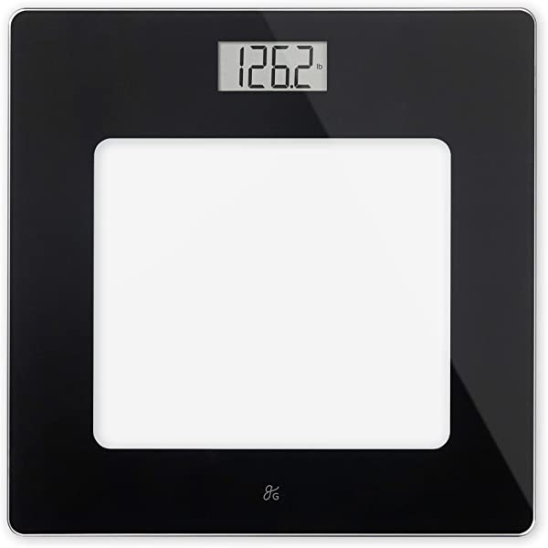 GreaterGoods Bathroom Scale Digital Body Weight Scale Glass Top Scale Pounds And Kilograms