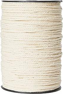 Macrame Cord 3mm x 220 Yards, Macrame Rope, Natural Cotton Macrame String for Crafting Macrame Supplies, Plant Hangers, Knitting
