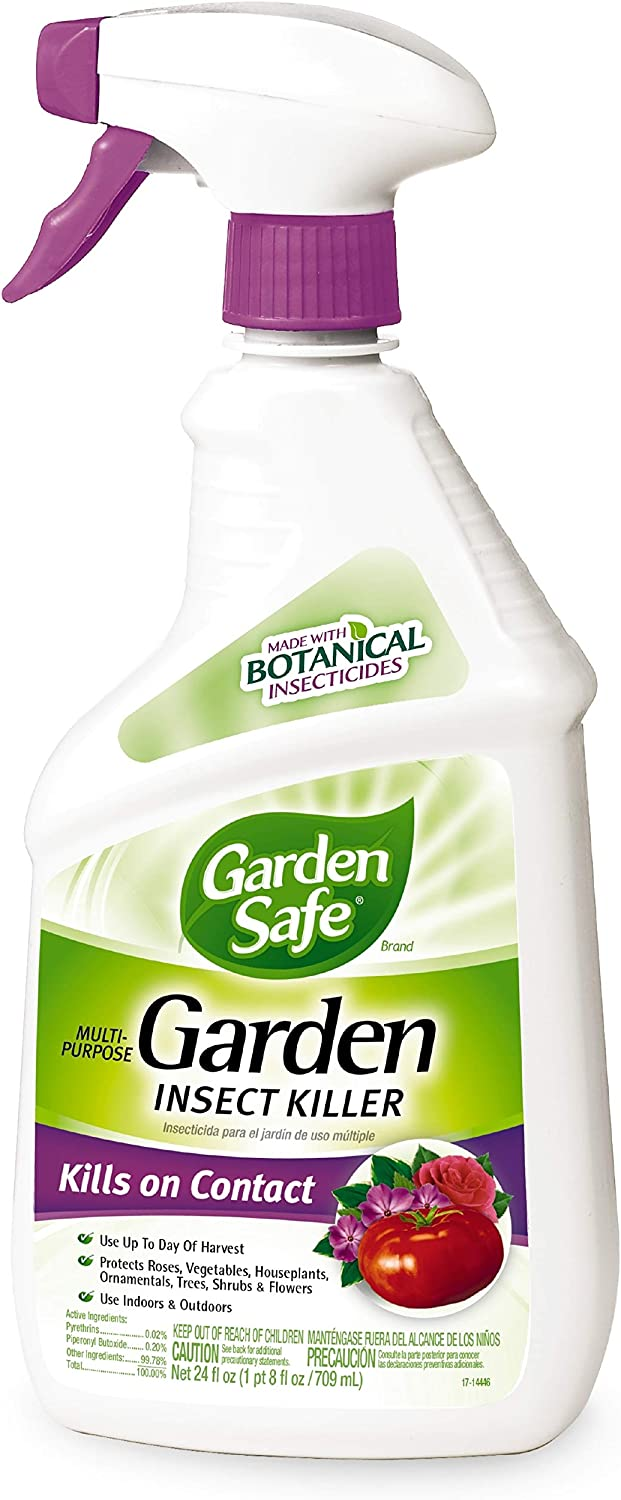 Garden Safe 93078-1 Brand Multi-Purpose Garden Insect Killer 24 Ounces, with B, Pack of 6