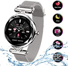 Smart Watch para Mujeres H1 Pulsera Actividad Inteligente con Pulsómetro Impermeable IP67 Podómetro Pulsera Deportiva Monitor de Ritmo Cardíaco Reloj Fitness Notificación Android iOS Móvil