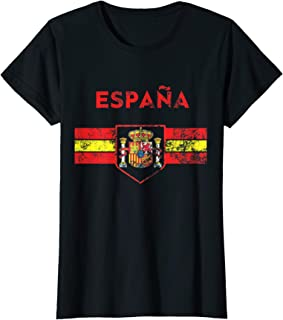Womens Spain Soccer Jersey Style Espana Girls Mujeres Team Equipo T-Shirt