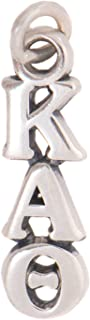 Kappa Alpha Theta Sorority Letter Sterling Silver or 14k Gold Lavalier Necklace with Chain (Silver)
