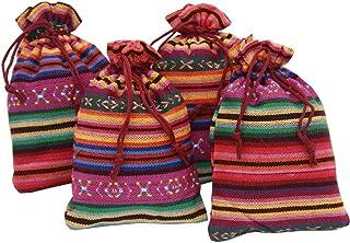 4 sacchettini 2020 (14x10cm) di cotone lino multicolor, ciascuno riempito con 30 g di pura lavanda (120g)