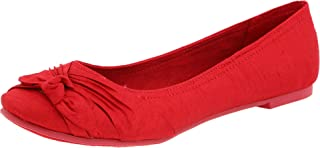 red silk shoes