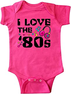 inktastic - I Love The '80s-Musical Notes Infant Creeper 2e076