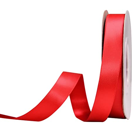 Red Lacy 58 inch Fold Over Elastic Ribbon