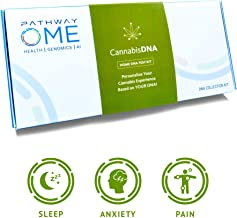 Pathway Genomics CBD Home DNA Test – Know Your Optimal CBD THC Ratio to Better Deal with Chronic Pain, Insomnia, Skin Health, Stress, Depression & Anxiety – Saliva Based Cannabis Genetic Testing Kit