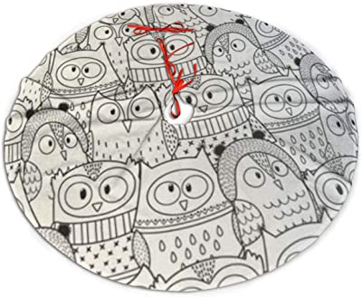- Amazon.com: GZtaowen Fashion Universal Christmas Tree Skirt, Adult Owls In Winter  Coloring Book Black And Animal Classic Holiday Christmas Decorations Indoor  And Outdoor 36 Inch: Home & Kitchen