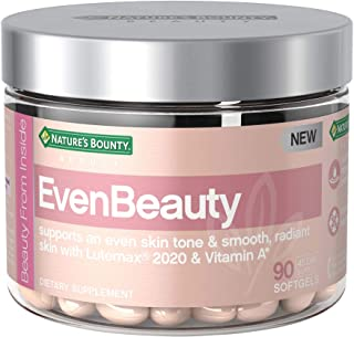 Nature's Bounty Evenbeauty Beauty Multivitamins, with Vitamin A & lutemax 2020, Skin Care Supports Even Skin Tone & Smooth...