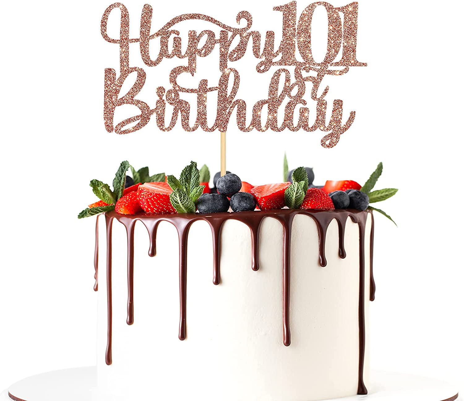 Happy 101st At the price of surprise Birthday Cake Anniversary Topper Brand Cheap Sale Venue Par