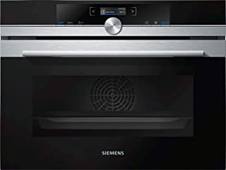 Siemens iQ700 CB635GBS3 - Horno (Medio, Horno eléctrico, 47 L, 300 °C, Negro, Acero inoxidable, Botones, Giratorio)
