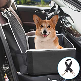 Pet Front Seat Cover for Dogs, 2 in 1 Pet Booster Seat Premium Padded Scratch-Proof Waterproof Dog Seat Cover with Side Flaps, Nonslip Backing for Cars, Trucks, SUVs