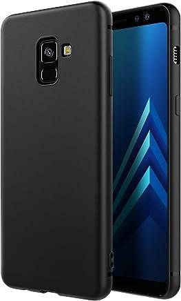 EasyAcc Custodia per Samsung Galaxy A8 2018, Morbido TPU Cover Slim Anti Scivolo Protezione Posteriore Case Antiurto E' Adatto per Samsung Galaxy A8 2018 (A530) - Nero