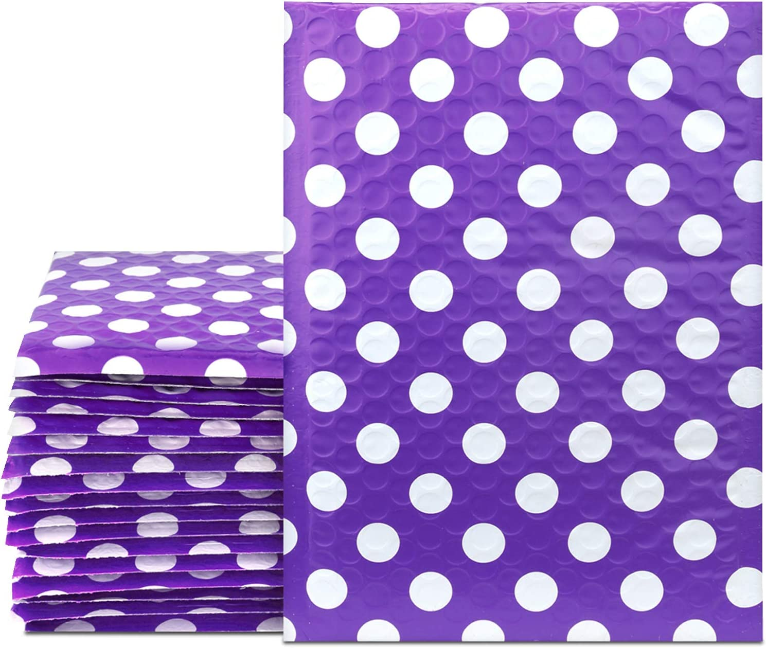 UCGOU Bubble Mailers 6x10 Inch Purple Charlotte Mall 25 Ranking TOP3 Pack En Padded Poly Dot