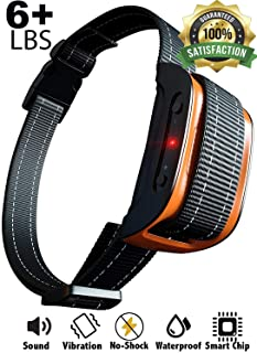 Bark Collar [2020 Superhuman CHIP] Best for Small Medium Large Dogs, Most Effective Anti Bark Device 7 Sound and Vibro Modes, No Harmful Shock, No Pain for a Dog, Hypoallergenic (Black/Orange)